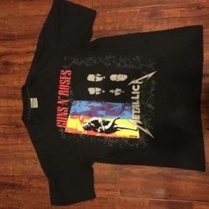 1992 Metallica/Guns N' Roses tour tee