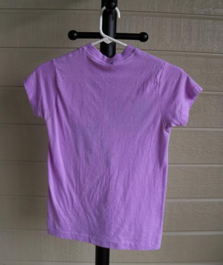 vintage Michael Jackson beat it t shirt 1984 tour purple MJ