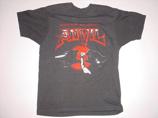 Vintage Anvil T-Shirt Strength of Steel 1987 M
