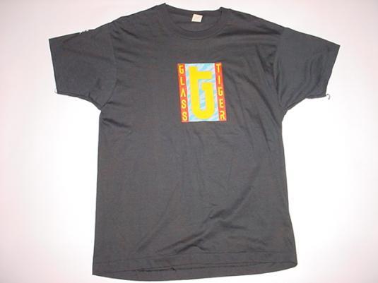Vintage Glass Tiger T-Shirt Thin Red Line Manhattan L