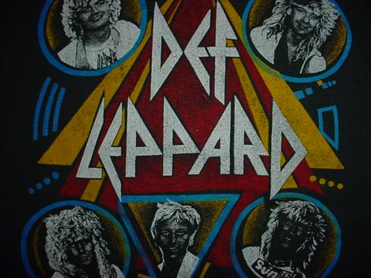 Vintage Def Leppard T-Shirt Hysteria Rare Back Design L/M