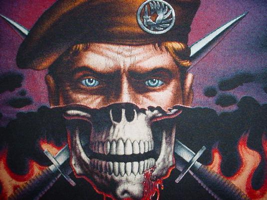 Vintage Mercenaries Never Die T-Shirt 1988 L
