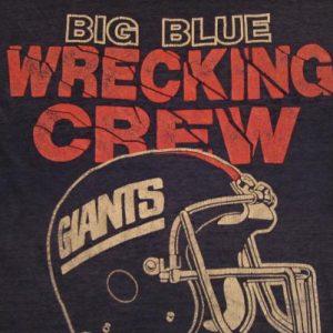 Vintage Big Blue Wrecking Crue T-Shirt New York Giants M/L