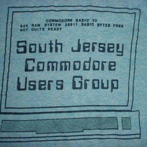 Vintage Commodore 64 T-Shirt South Jersey C64 RAYON M/L