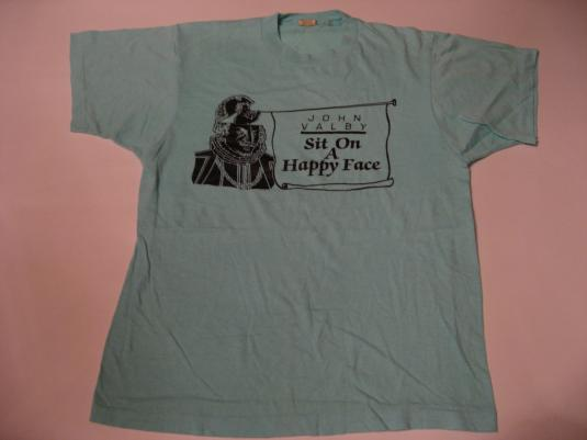 Vintage John Valby Sit on a Happy Face T-Shirt S