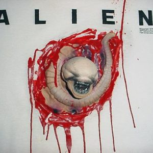 Vintage Alien Chest Burster 3D T-Shirt movie M/L