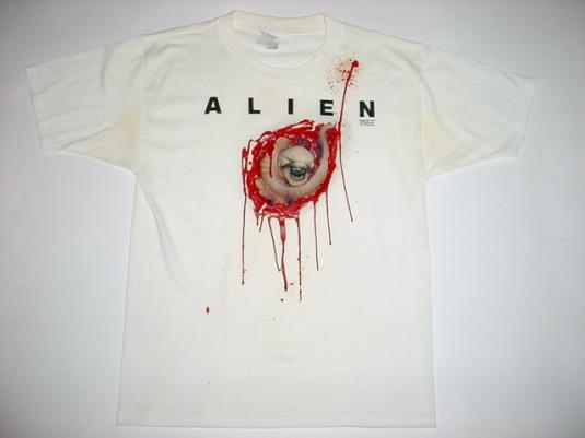 Vintage Alien Chest Burster 3D T-Shirt movie M/L