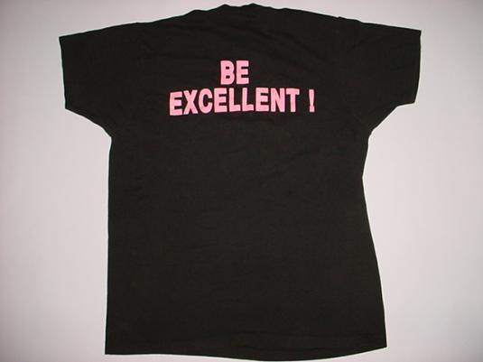 Vintage Bill & Ted's Excellent Adventure T-Shirt Keanu M/L