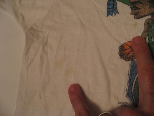 Vintage Boston Celtics Caricature Larry Bird Anti LA T-Shirt