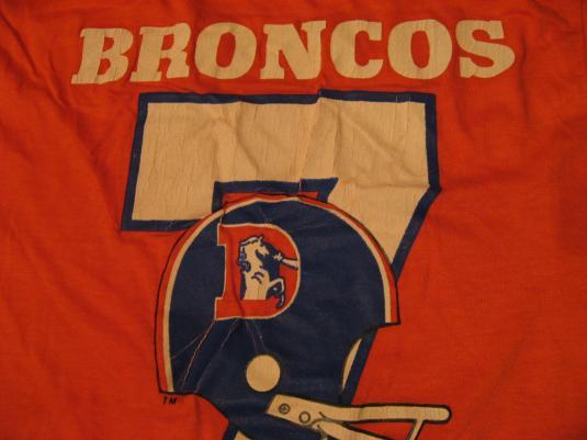 Vintage Denver Broncos Jersey Style Champion T-Shirt S