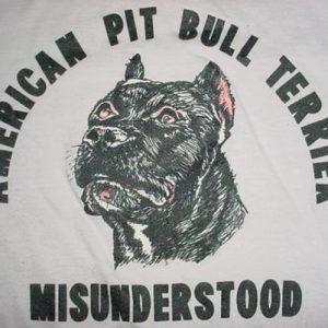 Vintage American Pit Bull Terrier MISUNDERSTOOD T-Shirt S