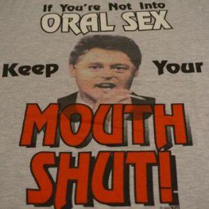 Vintage Bill Clinton Oral Sex T-Shirt Joint Marijuana XL
