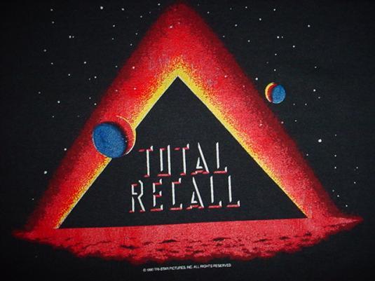 Vintage Total Recall T-Shirt Arnold Schwarzenegger L/XL