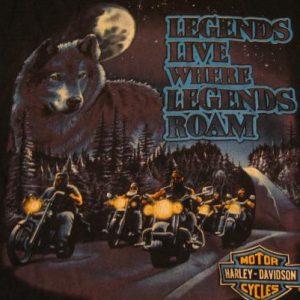 Vintage Where Legends Roam Harley Davidson T-Shirt XL
