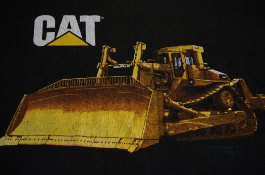 Vintage CAT Caterpillar BULLDOZER T-Shirt L/XL