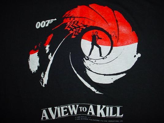 Vintage James Bond A View to a Kill T-Shirt 007 M/S