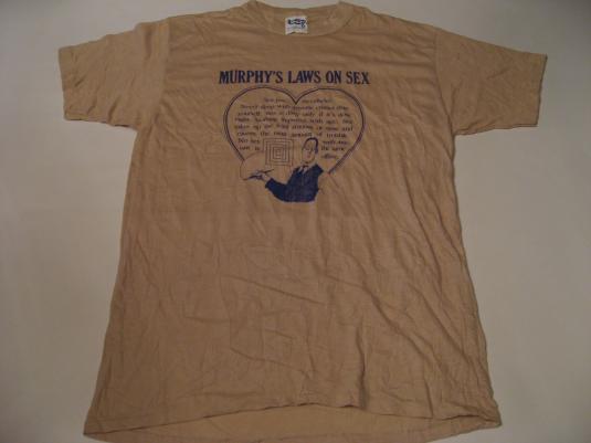 Vintage Murphy's Laws On Sex T-Shirt M/S