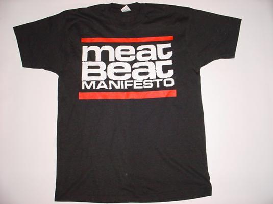 Vintage Meat Beat Manifesto Tour T-Shirt 99% MBM NOW 1991L