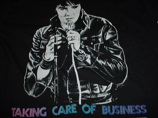 Vintage Elvis Taking Care of Business TKOB T-Shirt M
