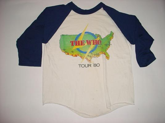 Vintage The Who T-Shirt Jersey Tour 1980 M