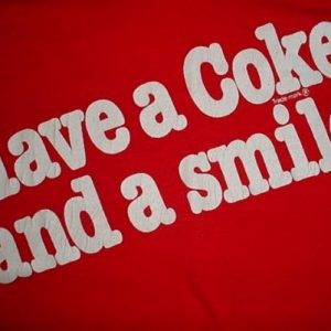 Vintage Have a Coke and a Smile T-Shirt coca cola Run 1981 S