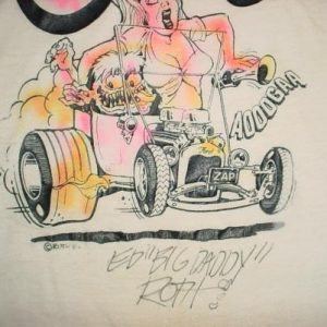 Vintage Big Daddy Roth Autographed T-Shirt Hot Rod M/L 1980s