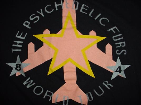 Vintage Psychelic Furs T-Shirt World Tour 1984 M