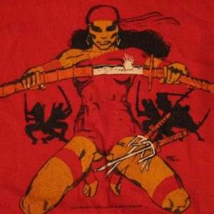 Vintage Elektra Natchios T-Shirt Marvel Comic Book M/L