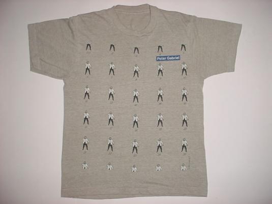 Vintage Peter Gabriel T-Shirt So Sledgehammer 1987 M/S