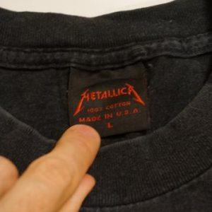 Vintage Metallica Sad But True Inside You PushHead T-Shirt L