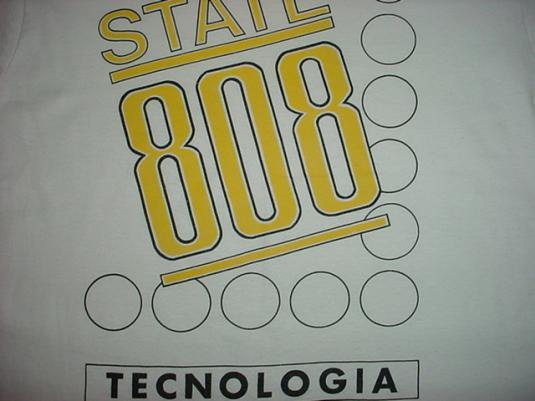 Vintage 808 State Tecnologia T-Shirt L