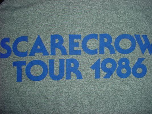 Vintage John Cougar Mellencap T-Shirt Scarecrow Tour M/L