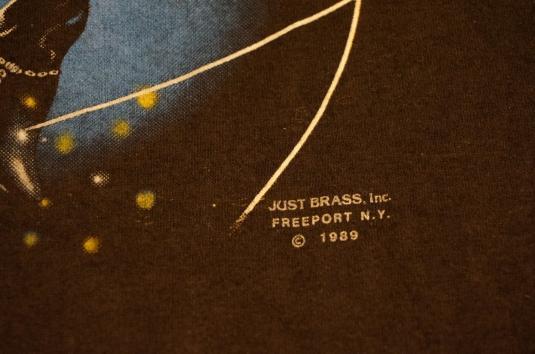 Vintage WIZARD REEPER Tattoo Just Brass T-Shirt 3d Emblem