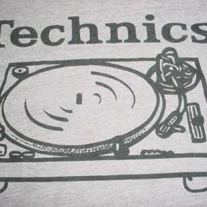 Vintage Technics 1200 Turntables T-Shirt DJ XL