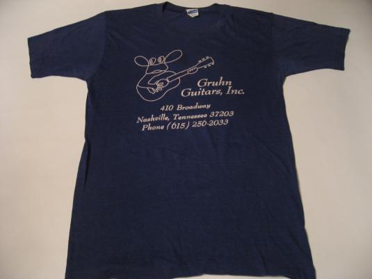 Vintage Gruhn Guitars Nashville Tennessee T-Shirt S