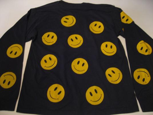 Vintage Acid House Smiley Jumper 1980s Rave T-Shirt L
