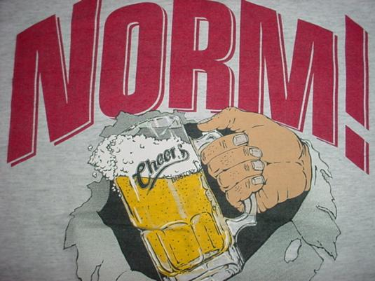 Vintage Cheers T-Shirt Norm! George Wednt L/M