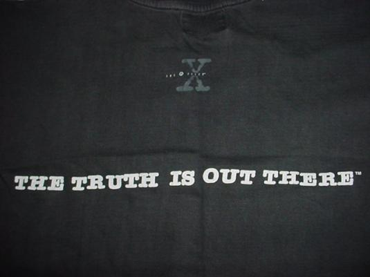 Vintage The X-Files T-Shirt The Truth is Out There 1996 L/M