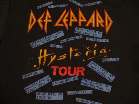 Vinage Def Leppard T-Shirt Hysteria 1987 M/L