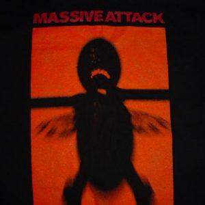 Vintage Massive Attack T-Shirt Inertia Creeps Mezzanine M