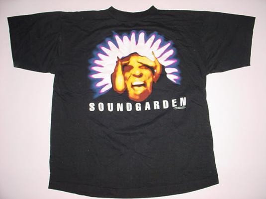 Vintage Soundgarden T-Shirt Black Hole Sun Superunknown L
