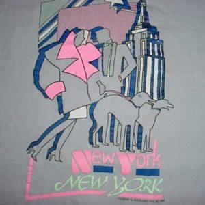 Vintage New York T-Shirt Neon Avant-Garde 1980s S
