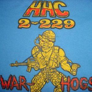 Vintage HHC 2-229 War-Hogs army T-Shirt S