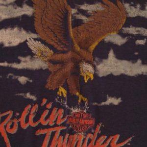 Vintage Harley Davidson Rollin' Thunder Eagle T-Shirt M