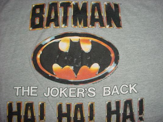 Vintage The Joker Batman Jack Nicholson T-Shirt 1989 M/L