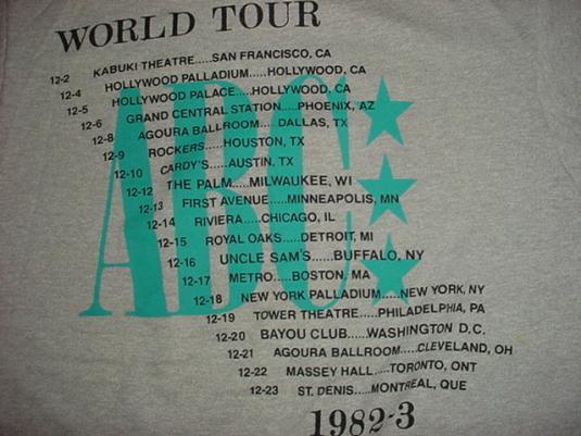 Vintage ABC T-Shirt World Lexicon of Love Tour 1982 M/S