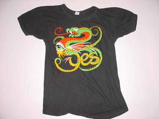 Vintage Yes T-Shirt 1970s S/XS