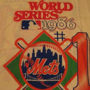 Vintage New York Mets World Champs w/Lineup T-Shirt M/L
