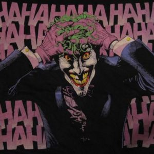 Vintage The Joker T-Shirt HAHAHA Batman DC Comics M