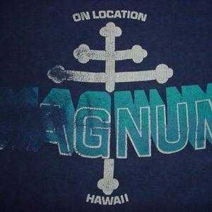 Vintage Magnum P.I. T-Shirt On Location Hawaii M/S